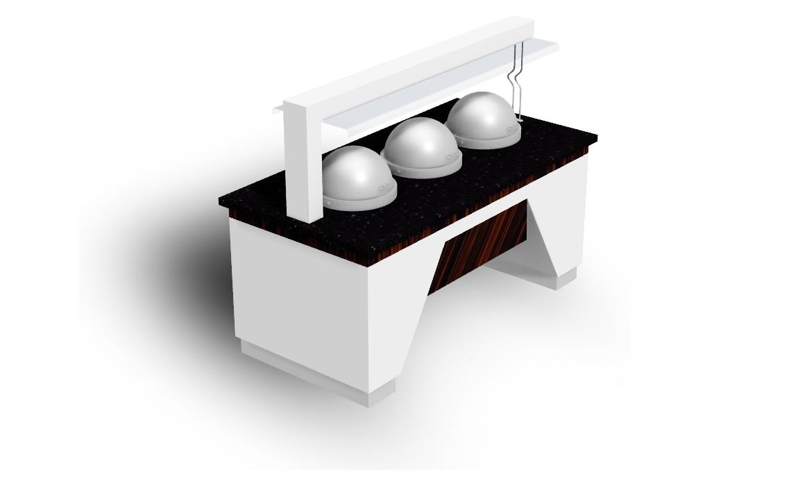 Elegante Üçlü Çorba Ünitesi (Perdeli)