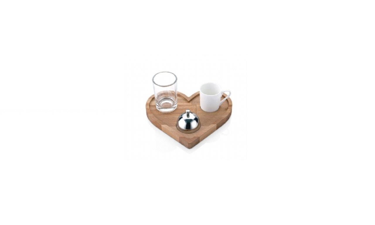 Kalp Türk Kahve Sunumu (20x18x1.8 cm)