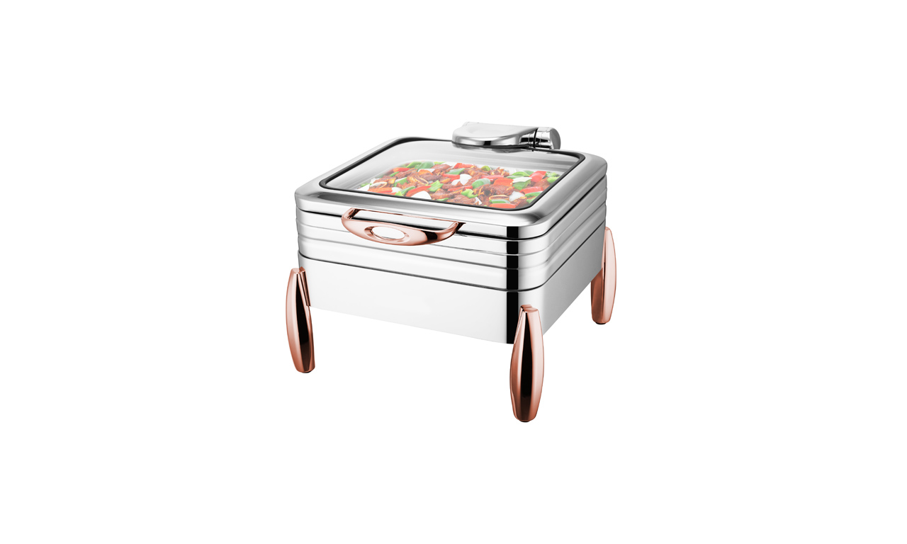 Milano GN-2/3 Copper Chafing Dishler