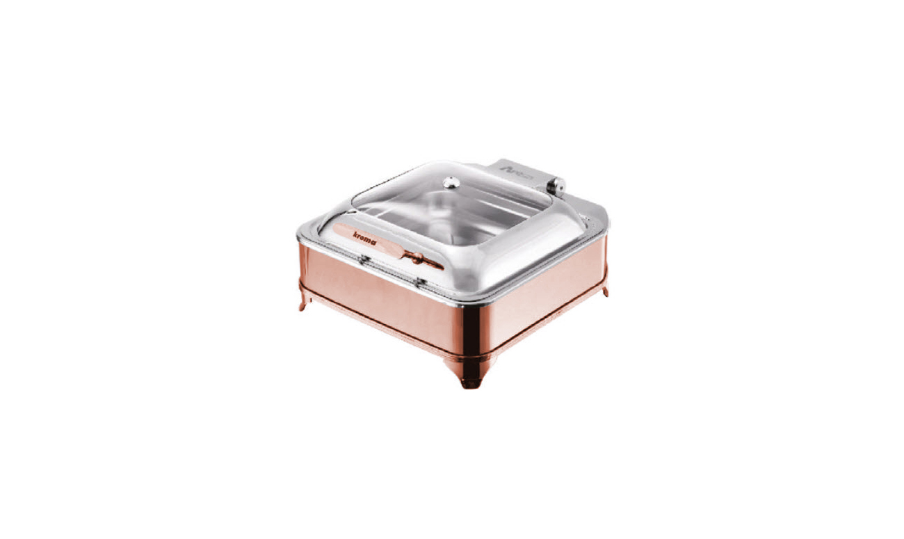 Exclusive Box  GN 2/3 Copper Chafing Dish