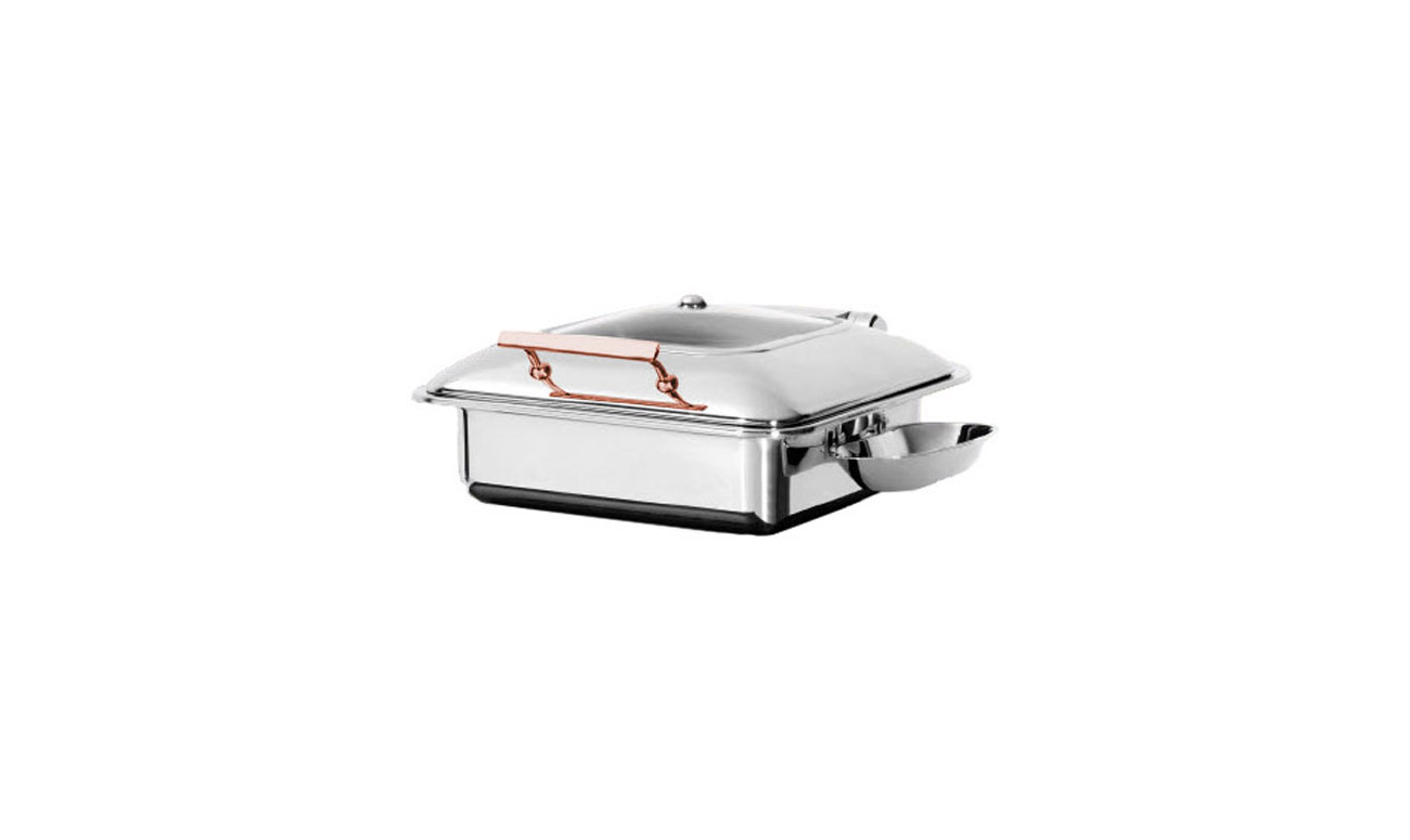Exclusive GN 2/3 Copper İndüksiyon Chafing Dish