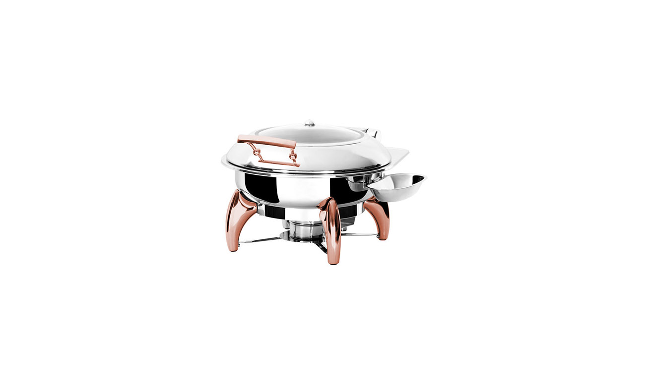Exclusive Copper Yuvarlak Chafing Dish