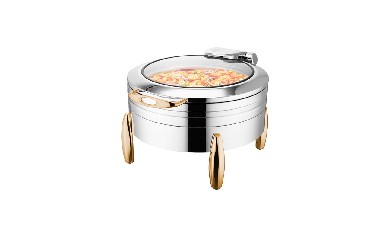 Milano Gold Yuvarlak Chafing Dish