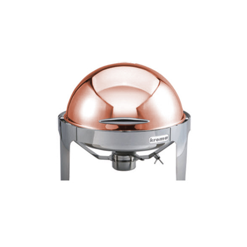 Deluxe Copper Yuvarlak Rolltop Chafing Dishler