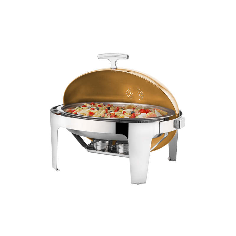 Deluxe Oval Rolltop Gold Chafing Dishler
