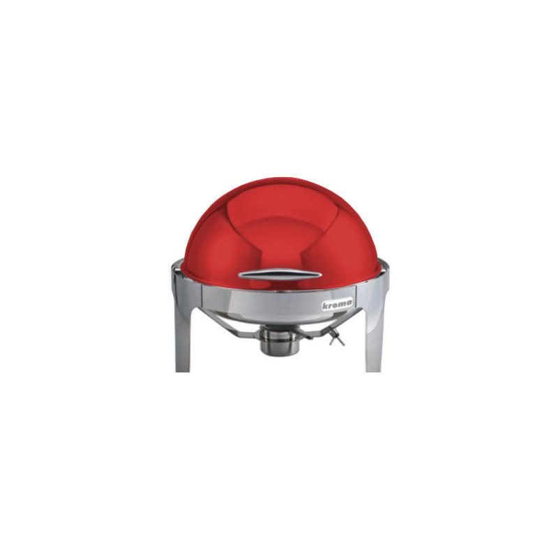Deluxe Yuvarlak Rolltop Chafing Dish Kırmızı