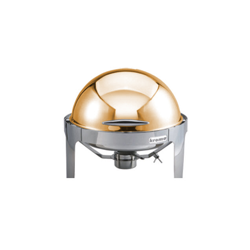 Deluxe Yuvarlak Rolltop Gold Chafing Dishler