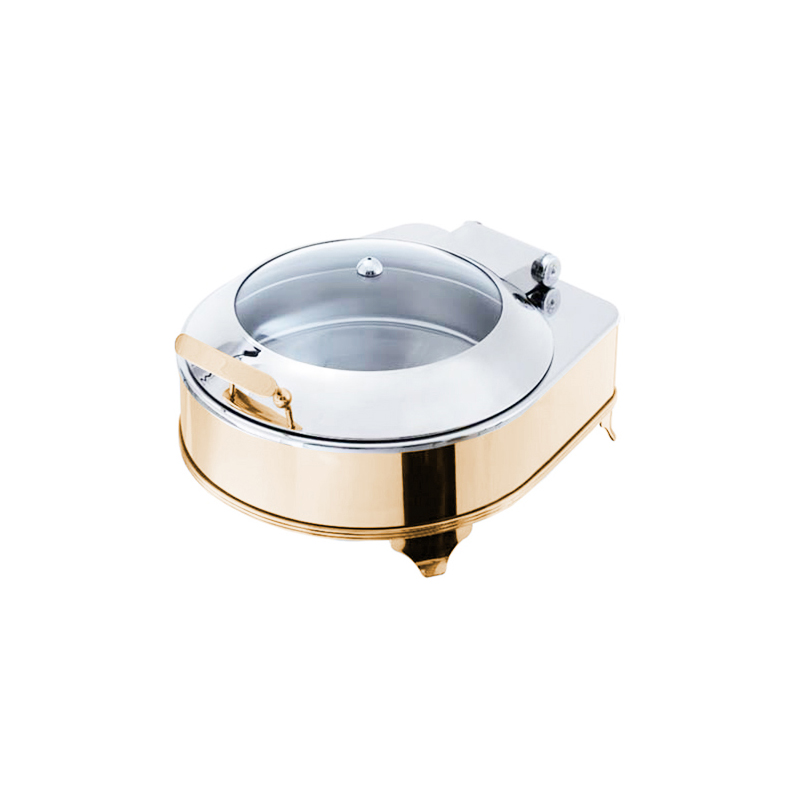 Exclusive Gold Yuvarlak Box Chafing Dishler