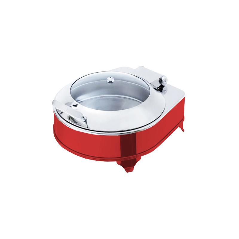 Exclusive Yuvarlak Box Chafing Dish Kırmızı