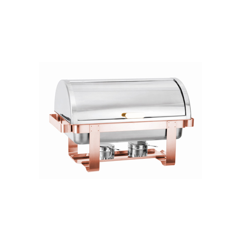 Rolltop Copper Chafing Dish Classic